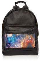 River Island MensBlack Mi-Pac cosmic print backpack