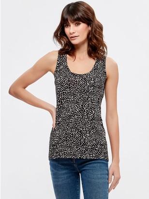 M&Co Animal scoop neck vest top