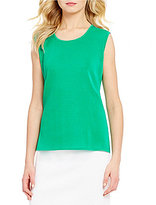 Misook Scoop Neck Solid Tank