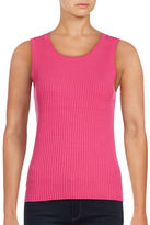 Lord & Taylor Petite Ribbed Sleeveless Top