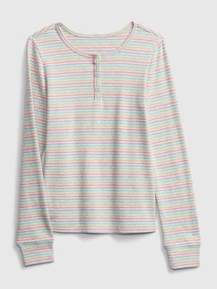 Gap Kids Print Henley T-Shirt