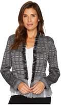 Nic+Zoe Steel Fringe Jacket Women's Jacket