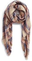 BP Junior Women's Pretty Plaid Oblong Scarf