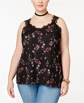 Jessica Simpson Trendy Plus Size Perry Lace-Trim Tank Top