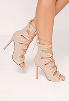 Missguided D Ring Detail Gladiator Heels Nude