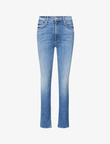 Thumbnail for your product : Mother The Dazzler straight-leg mid-rise stretch-denim jeans