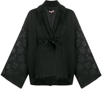 Romeo Gigli Pre Owned 1990's Textured Details Kimono Jacket