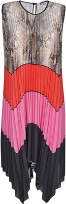MSGM Sleeveless Pleated Dress