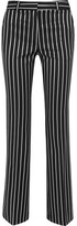Paul & Joe Eploermel Pinstriped Stretch-twill Straight-leg Pants - Black