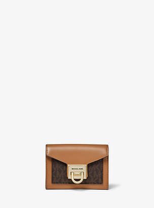 Michael Kors Manhattan Small Leather And Logo Wallet