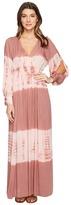 Culture Phit Faye Long Sleeve Tie-Dye Maxi Dress Women's Dress