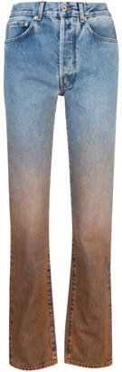 Off-White Ombre Straight-Leg Jeans