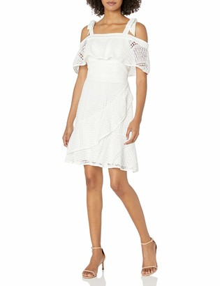 Adelyn Rae Women's Maxine Woven Lace Fit and Flare