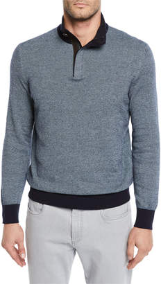 Ermenegildo Zegna Men's Textured-Knit Mock-Neck Sweater