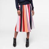 Paul Smith Women's 'Sunray-Stripe' Pleated Skirt