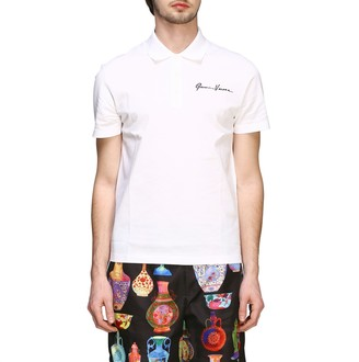 Versace Polo Shirt Short-sleeved Polo Shirt With Signature