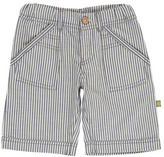 Nui Hone Chambray Striped Organic Cotton Bermuda Shorts