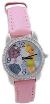 Disney Pink Princess Fairy Tinkerbell Watch withe Glitter Flower Dial