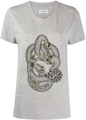 Zadig & Voltaire Aria embroidered T-shirt