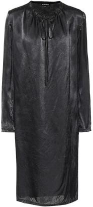 Ann Demeulemeester Satin midi dress