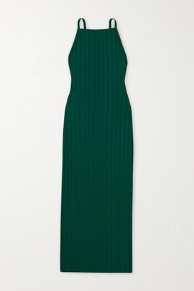 Reformation + Net Sustain Rhine Ribbed Stretch-tencel Midi Dress - Emerald