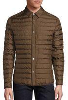 Salvatore Ferragamo Quilted Silk Shirt Jacket