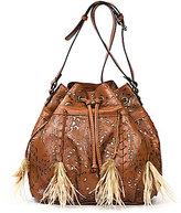 Patricia Nash Laser Lace Collection Picerno Drawstring Bucket Bag