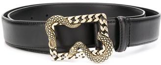Just Cavalli Chain-Link Snake Buckle Belt