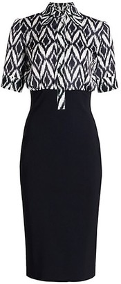 Chiara Boni Archie Printed Contrast Dress