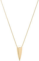 House Of Harlow Mesa Pendant Necklace in Metallic Gold.