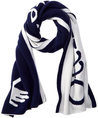 Off-White Intarsia Logo Wool Scarf