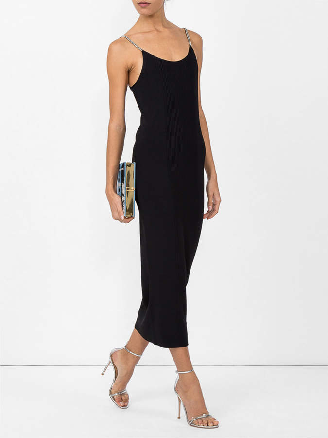 Alexander Wang Ribbed tank dress with chain straps