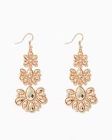 Charming charlie Triple Flower Fan Drop Earrings