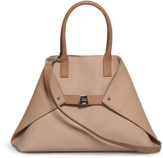 Akris Al Small Nubuck Top Handle Bag