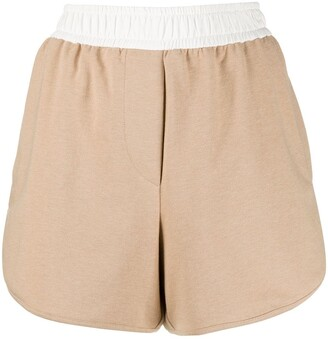Brunello Cucinelli High-Waisted Track Shorts