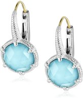 Judith Ripka Eclipse Silver Small Eclipse Synthetic Turquoise Earrings