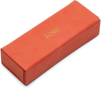 Toms Cherry Tomato Synthetic Leather Flex Fold Sunglasses Case