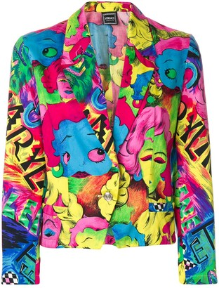 Versace Pre-Owned Pop Face blazer