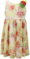 Jayne Copeland Little Girls' Floral-Print Chiffon Dress