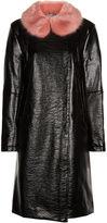 Shrimps Black Faux Leather Hokus Coat