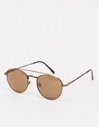 A. J. Morgan AJ Morgan Chime aviator sunglasses in brown