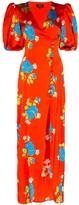 De La Vali Ohio floral print midi dress