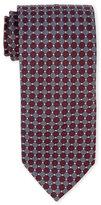 Altea Circle Grid Textured Silk Tie