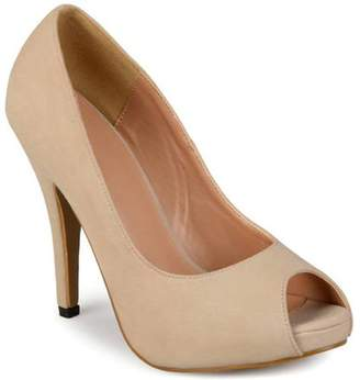 Brinley Co. Women's Peep-toe Platform Pumps