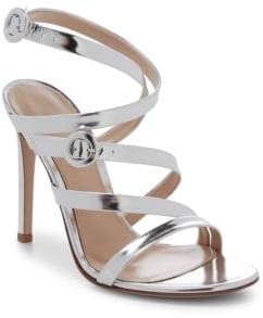 Gianvito Rossi Leather Strappy Ankle-Strap Sandals