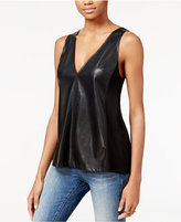 Rachel Roy Faux-Leather Contrast Top, Only at Macy's