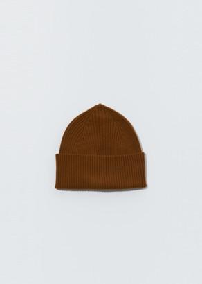 Margaret Howell Merino Wool Long Rib Hat Ochre