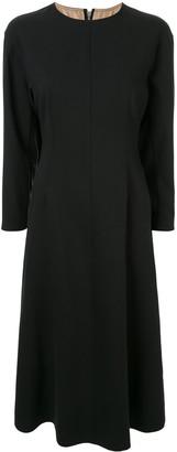 Le Ciel Bleu Back Zip Structured Sleeve Dress