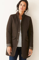 J. Jill Diamond-Quilted Long Jacket
