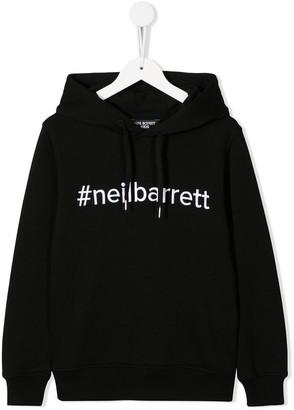 Neil Barrett Kids Hashtag Logo Hoody